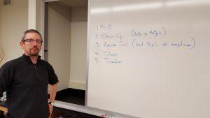 Prof. Arthur Glasfeld takes charge
