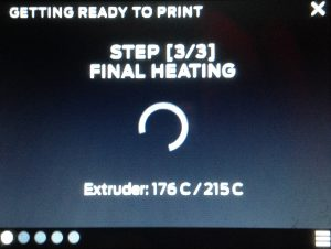 print makerbot final heating