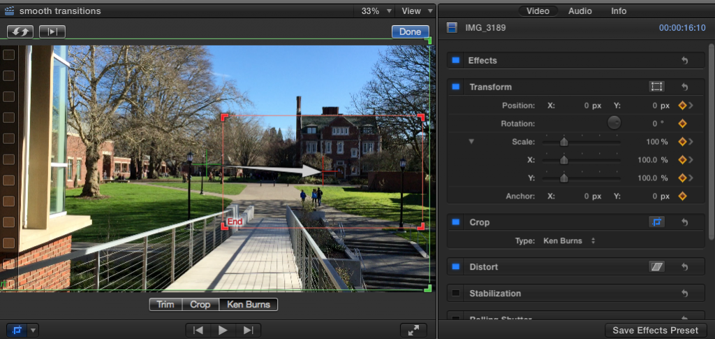 Pan to Zoom in iMovie and Final Cut Pro X | Teaching and Learning ...