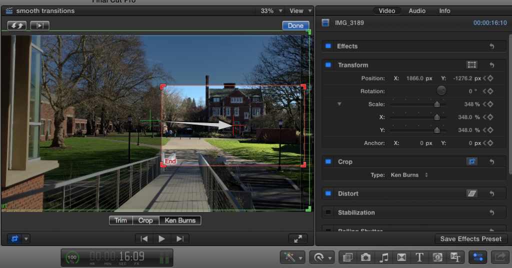 Pan to Zoom in iMovie and Final Cut Pro X | Teaching and