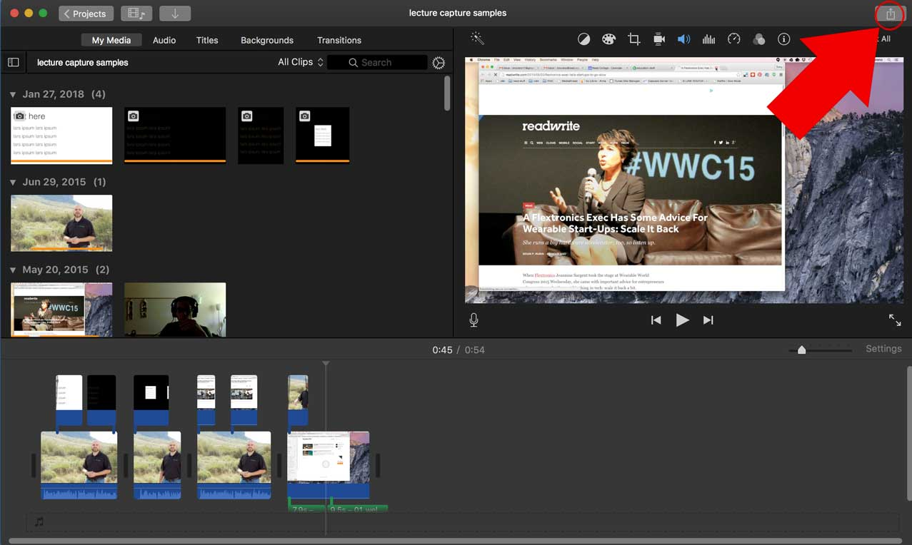 Using iMovie | Teaching and Learning with Technology at Reed