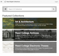 Search everything! (in Reed Digital Collections)