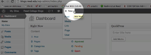 Wordpress New dropdown item